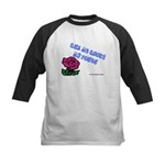 Ask Me About My Roses Kids Baseball Jersey