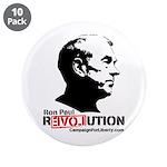 """Ron Paul Revolution 3.5"""" Button (10 pack)"""
