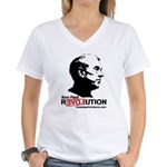 Ron Paul Revolution Women's V-Neck T-Shirt