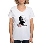 Ron Paul Revolution Women's V-Neck T-Shirt