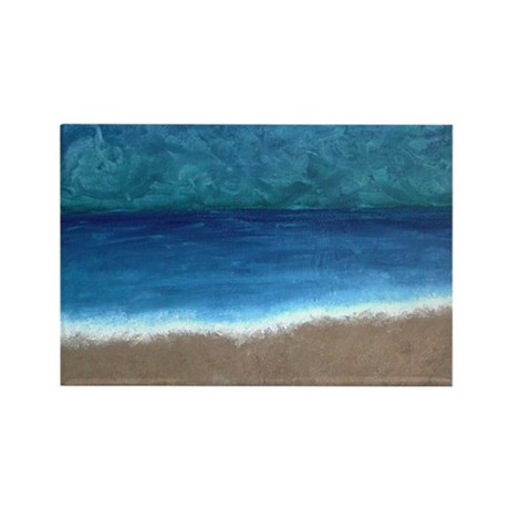 Beach Painting Rectangle Magnet