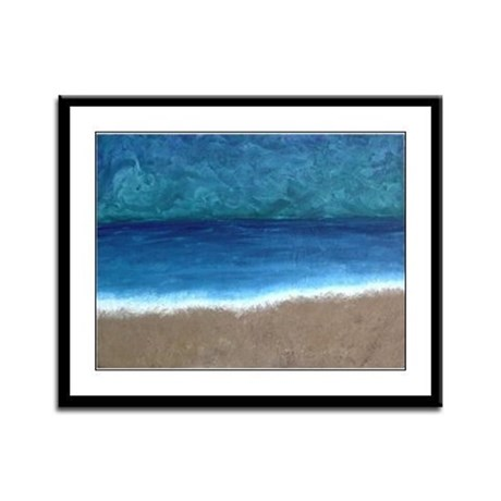 Beach Painting Framed Panel Print
