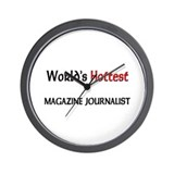 World's Hottest Magazine Journalist Wall Clock