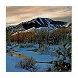 Baldy Sunrise Tile Coaster