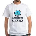 Atheists for OBAMA White T-Shirt