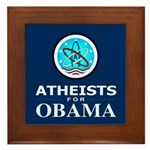 Atheists for OBAMA Framed Tile