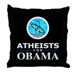 Atheists for OBAMA Throw Pillow