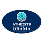 Atheists for OBAMA Oval Sticker