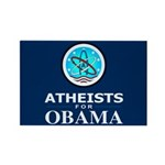 Atheists for OBAMA Rectangle Magnet
