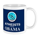 Atheists for OBAMA Dark Mug