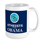 Atheists for OBAMA Dark Large Mug