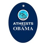 Atheists for OBAMA Oval Ornament