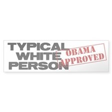 Typical White Person Bumper Sticker (50 pk)