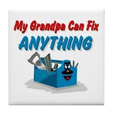 Fix Anything Grandpa Tile Coaster