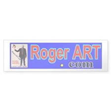 Earth Head RogerART.com Bumper Bumper Sticker