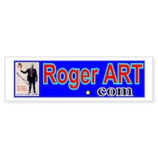 Earth Head RogerART.com Bumper Bumper Sticker