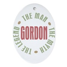 Gordon Man Myth Legend Oval Ornament