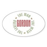 Gordon Man Myth Legend Oval Sticker (10 pk)