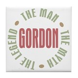 Gordon Man Myth Legend Tile Coaster