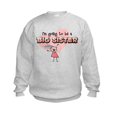 Stick Girl Future Big Sister Kids Sweatshirt