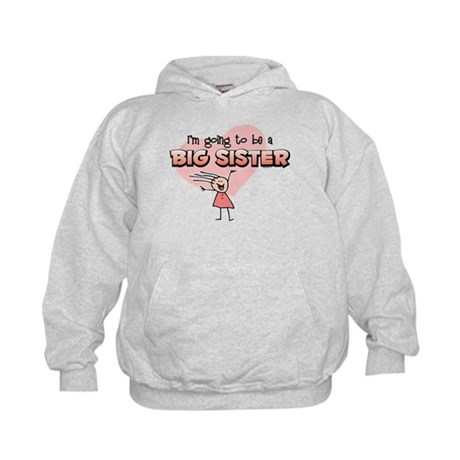 Stick Girl Future Big Sister Kids Hoodie