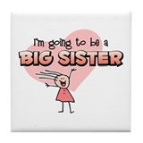 Stick Girl Future Big Sister Tile Coaster
