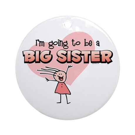Stick Girl Future Big Sister Ornament (Round)