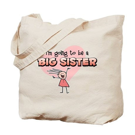 Stick Girl Future Big Sister Tote Bag