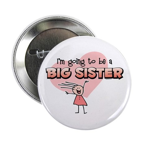 "Stick Girl Future Big Sister 2.25"" Button"