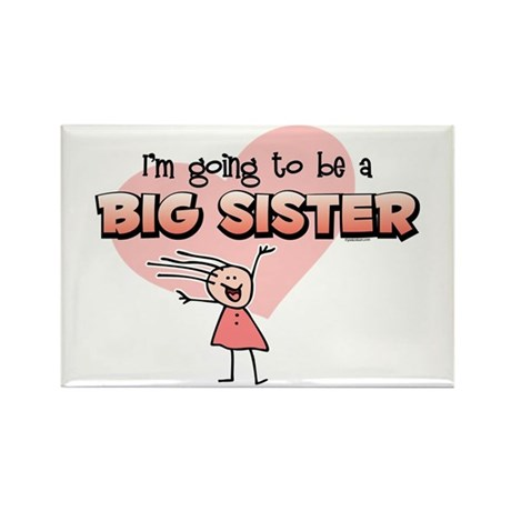 Stick Girl Future Big Sister Rectangle Magnet