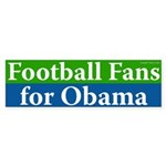 Football Fans for Obama bumper sticker