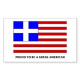 Proud to Be Greek American Rectangle Decal