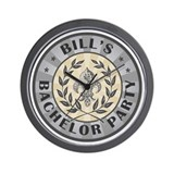Bill's Personalized Bachelor Party Wall Clock