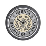 John's Personalized Bachelor Party Wall Clock
