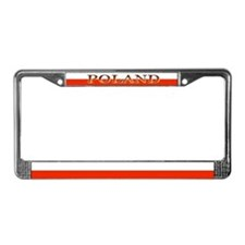 Poland Polish Flag License Plate Frame