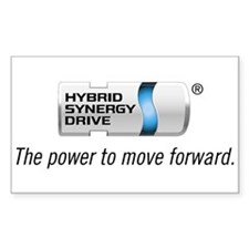Prius Hybrid Synergy Drive Rectangle Decal