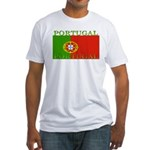 Portugal Portuguese flag Fitted T-Shirt