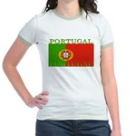 Portugal Portuguese flag Jr. Ringer T-Shirt