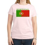 Portugal Portuguese flag Women's Pink T-Shirt
