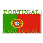 Portugal Portuguese flag Rectangle Sticker