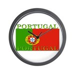 Portugal Portuguese flag Wall Clock