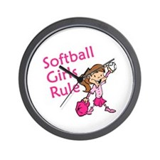 Softball girls Rule Wall Clock