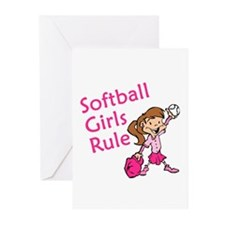 Softball girls Rule Greeting Cards (Pk of 20)