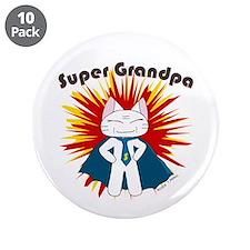 """Super Grandpa 3.5"""" Button (10 pack)"""