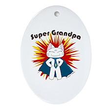 Super Grandpa Oval Ornament