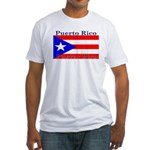 Puerto Rico Rican Flag Fitted T-Shirt