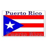 Puerto Rico Rican Flag Rectangle Sticker