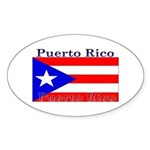 Puerto Rico Rican Flag Oval Sticker