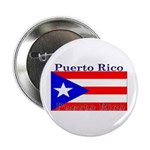 Puerto Rico Rican Flag Button