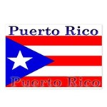 Puerto Rico Rican Flag Postcards (Package of 8)